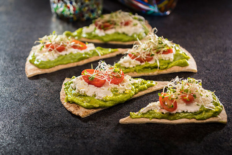 Guacamole and Goat Cheese Flatbread
