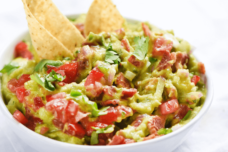 Kicked up <br>Guacamole with Bacon