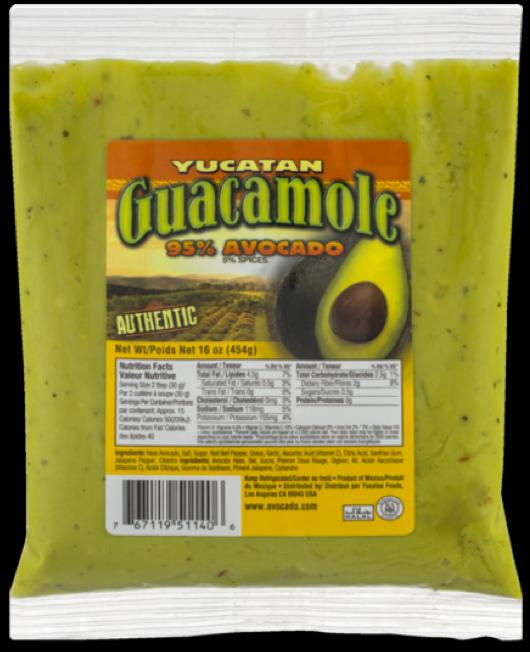 Authentic Guacamole Pouch