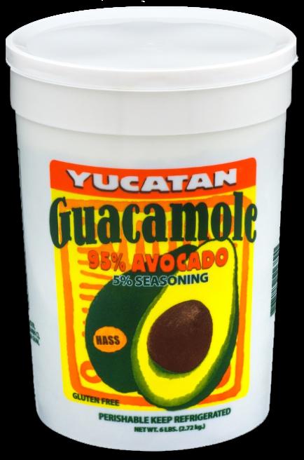 Authentic Guacamole Tub
